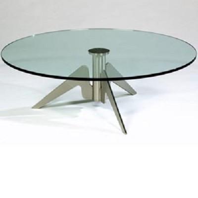 Glazen Tafelblad Rond.Glazen Tafel Ikea Action Wandrek Industrieel